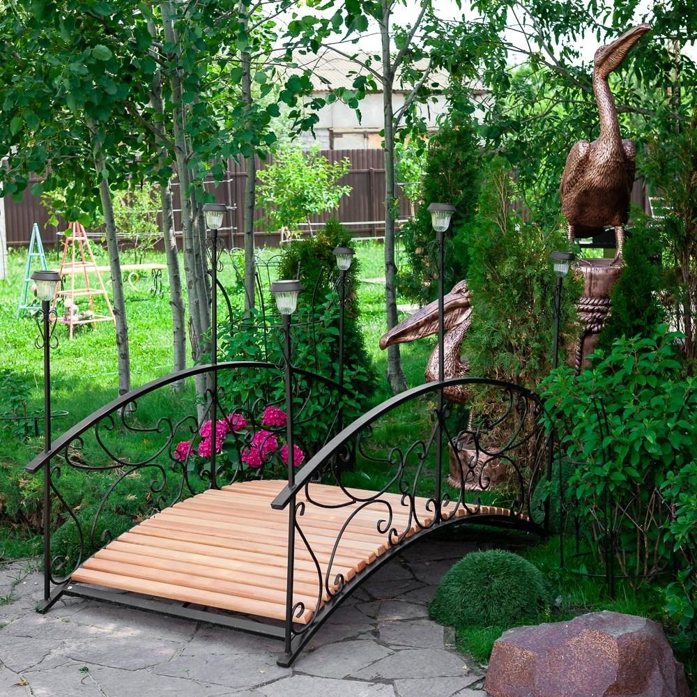 Садовый мостик с 6 фонарями - фото 56663