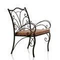 Металлическое дачное кресло